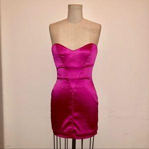 Dresses & Skirts - Valentine's Day Hot Pink Bustier Strapless Dress